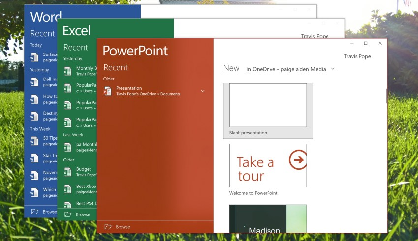 Get free Microsoft Office in Windows 10