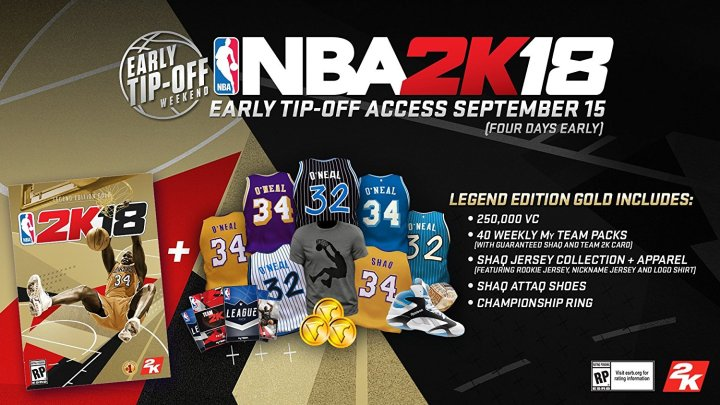 NBA 2K18 Legend Edition Gold extras.