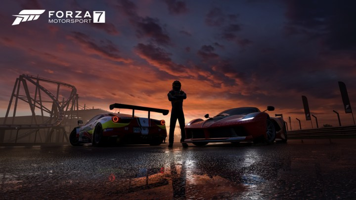 Forza 7 Ferrari Sunset 4K