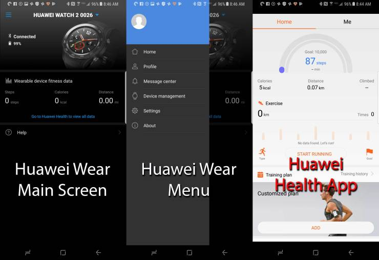 Huawei Wear and Health Apps