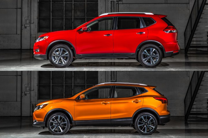 Check out the Nissan Rogue Specs below for more details, but you can see the size difference in this image.