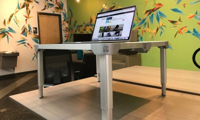 The ZestDesk is a great portable standing desk.