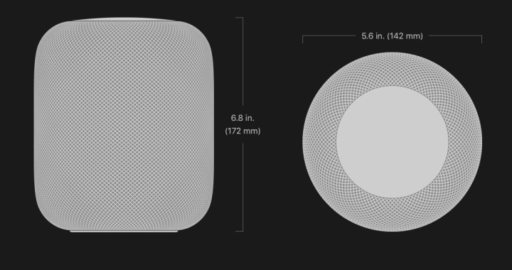 Apple HomePod Dimmensions
