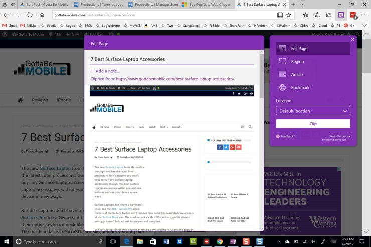 clip to onenote extension