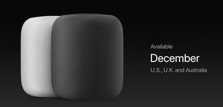 Apple HomePod Speaker Available December text