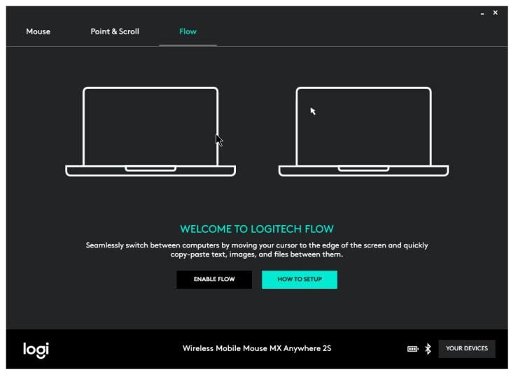 logitech flow configuration