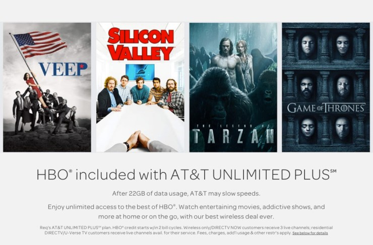 Switch to AT&T for Free HBO