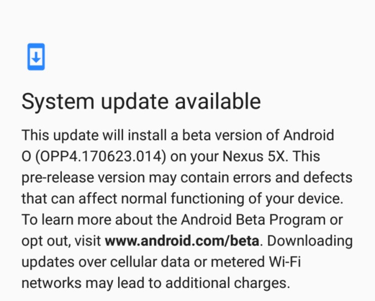 10 Things to Know About the Nexus 5X Android O Update