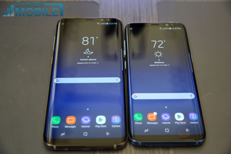 Galaxy Note 8 vs Galaxy S8+: Display