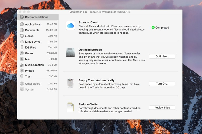 Use a free built-in tool to free up space on your Mac.