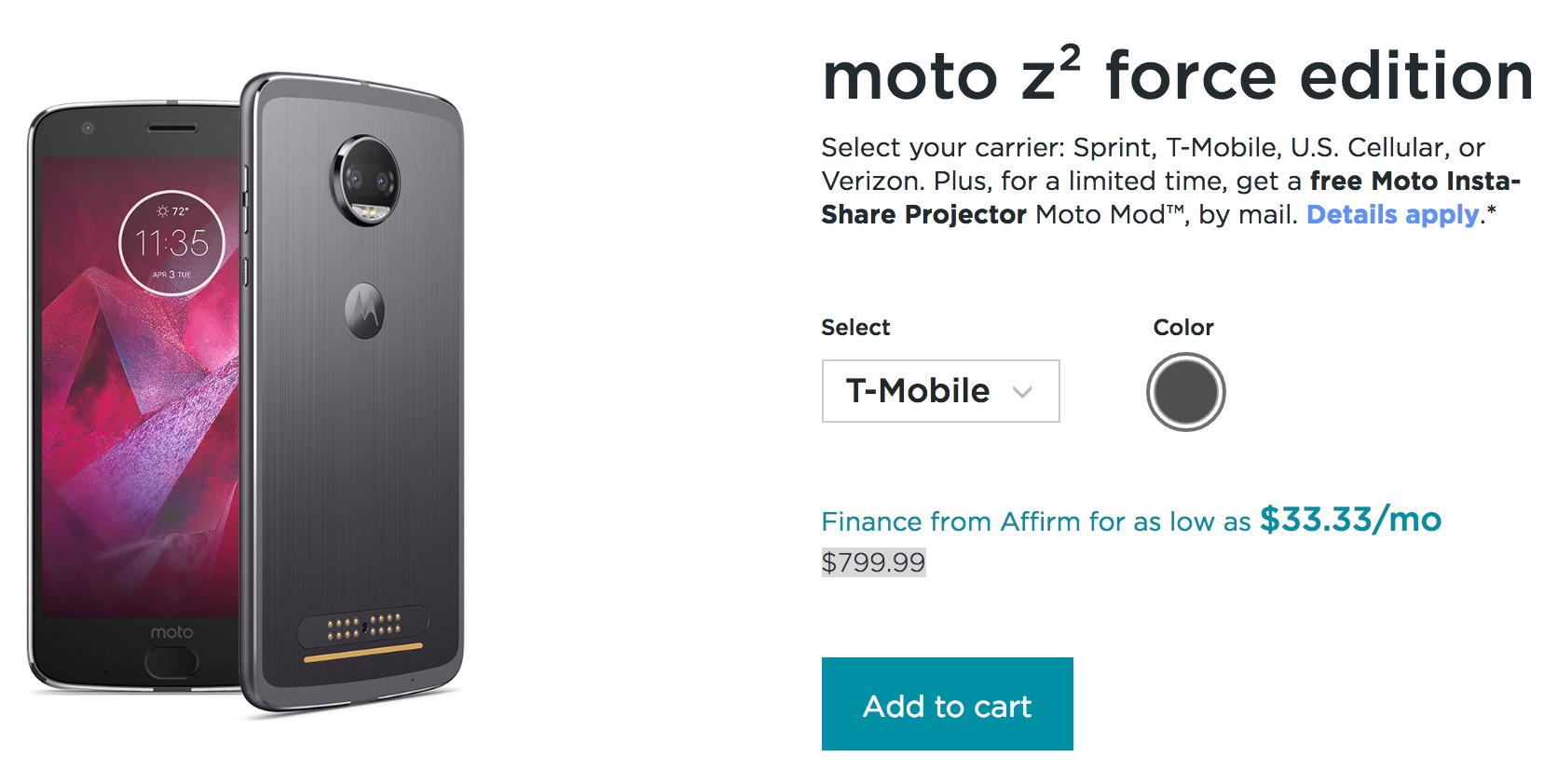 Moto Z2 Force Edition now official with 5.5-inch ShatterShield display