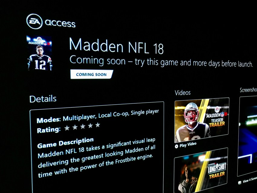 What to do if you run into EA Access Madden 18 problems .