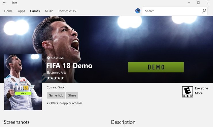 Wait for theFIFA 18 Demo