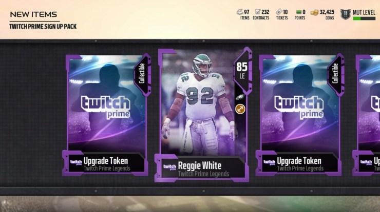 How to claim your 25 free Madden 18 Legends from Twitch.