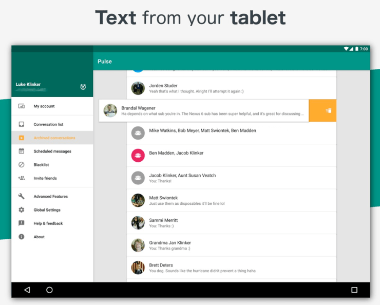 5 Best Texting Apps for Android Tablets
