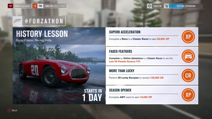 How to do Lucky Escapes in Forza Horizon 3 and other Forzathon tips.