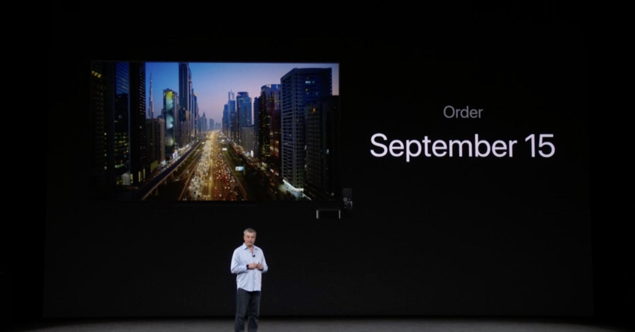 Apple TV 4K Coming on September 22