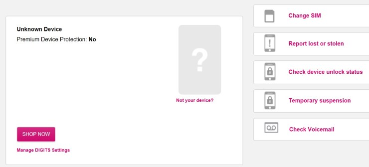 Check to see how much you have to pay to Jump on T-Mobile.