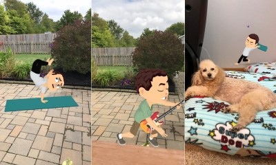Snapchat now lets you use AR Bitmoji in the World Lenses feature.