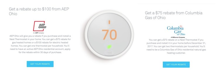 Save big on the Nest Thermostat E with rebates.