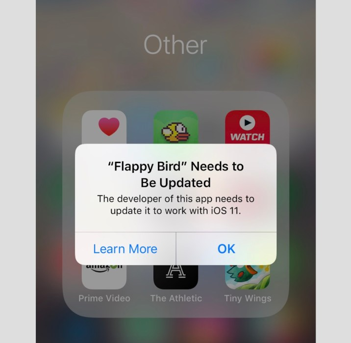 Some Apps Don't Work with iOS 11 & iOS 11.4