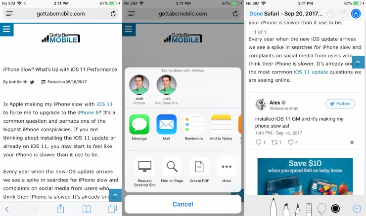 Print to a PDF Right From Your iPhone & Annotate