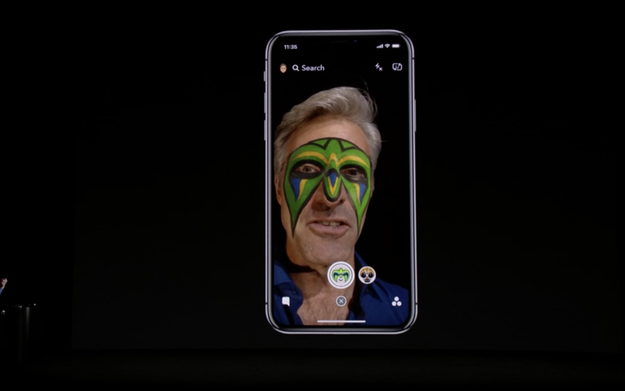 iPhone X Takes Snapchat Face Filters to 11