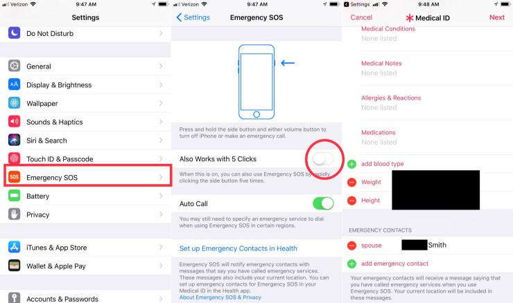 How to setup Emergency SOS on iPhone.