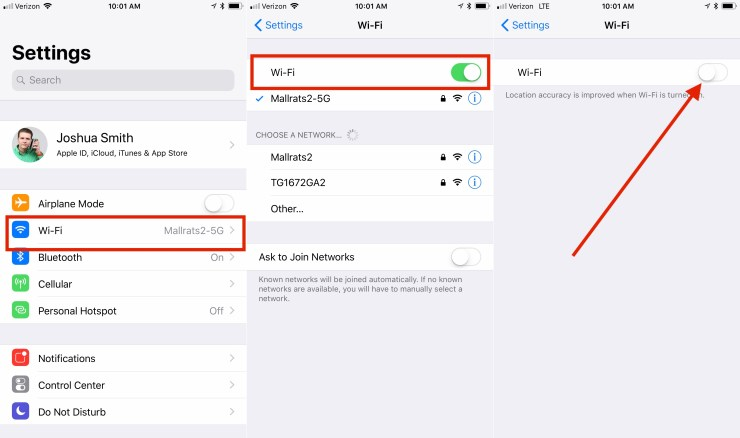 How to Turn iPhone WiFi Off on iOS 11