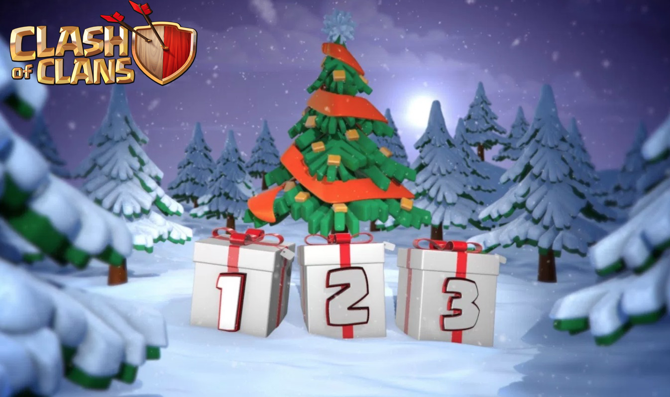 All Coc Christmas Trees.Clash Of Clans December 2017 Update Clan Games More
