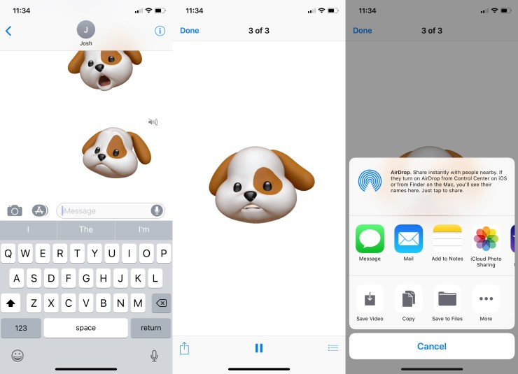 Here's how to save Animoji so you can share them on Facebook or Instagram.