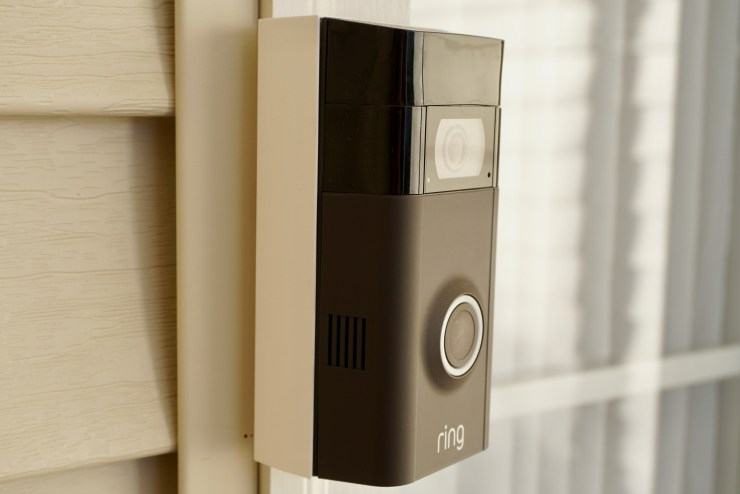 The Ring Video Doorbell 2 is easy to install and there are adapters included to help you find the right placement.