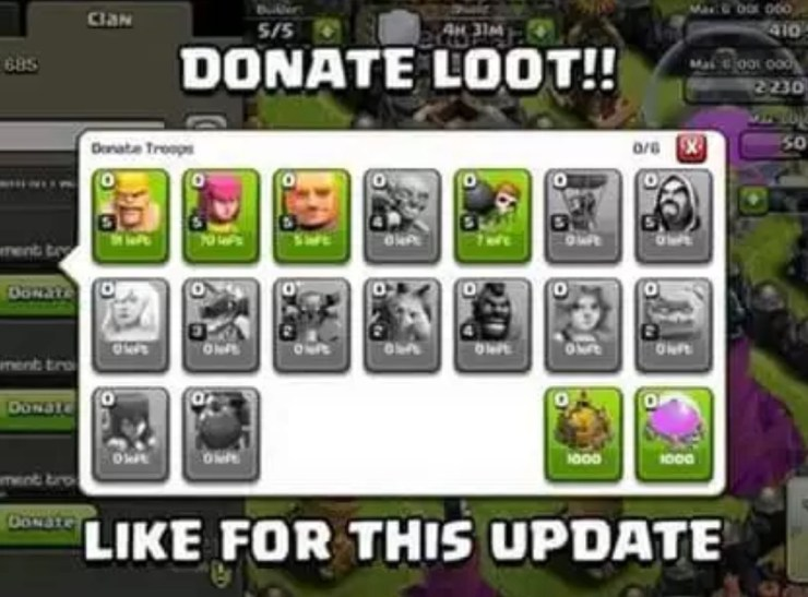 Loot and Gem Donations