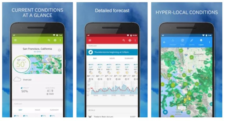 10 Best Weather Apps for Android (2019)