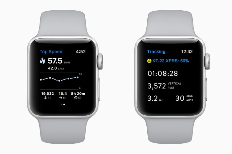 Track Skiing and Snowboarding with the Apple Watch