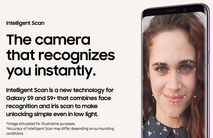 Unlock the Galaxy S9 With Your Eyes and Face
