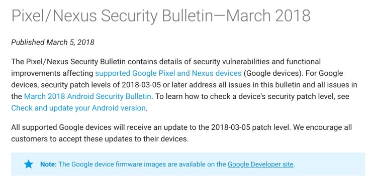 Pixel & Nexus March Android 8 1 Update: What to Know