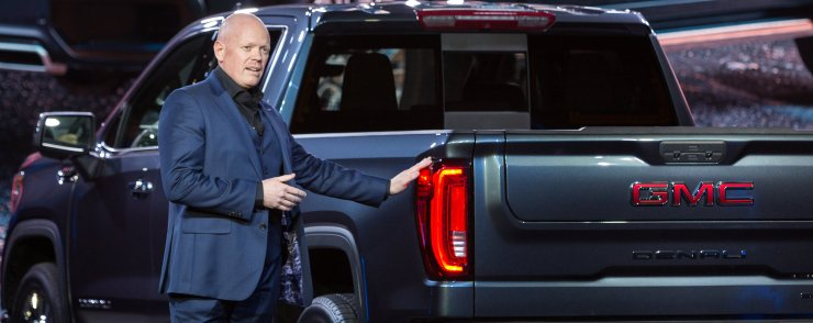 The 2019 GMC Sierra is available with a smart tailgate.
