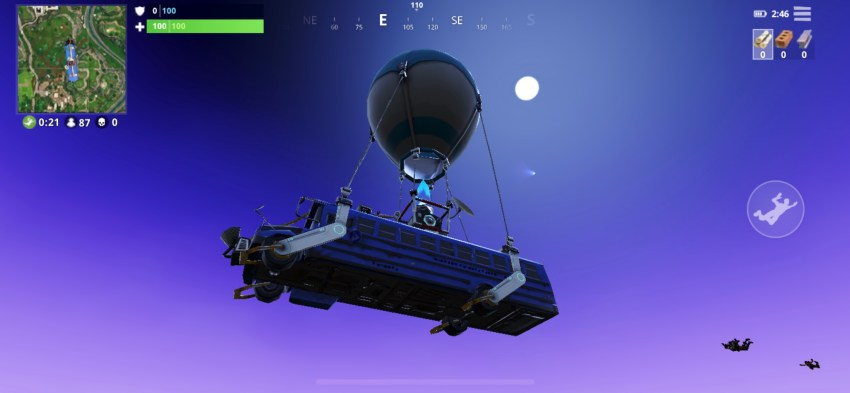 You can see the Fortnite Battle Royale meteor coming in towards Tilted Towers.