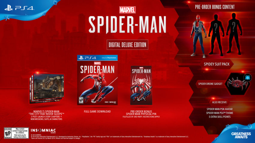 Pick which of the Spider-Man editions you want.