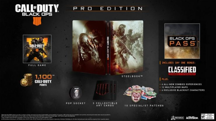 If you love physical items, the Call of Duty: Black Ops 4 Pro Edition is the one to pick.