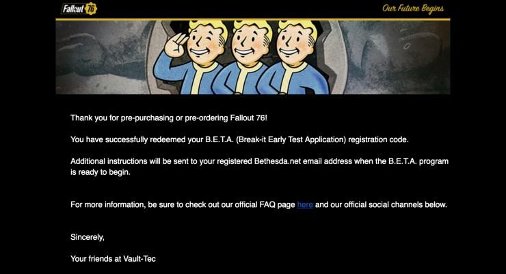 So meldet Ihr Euch für die Fallout 76 Beta auf PC, PS4, Xbox