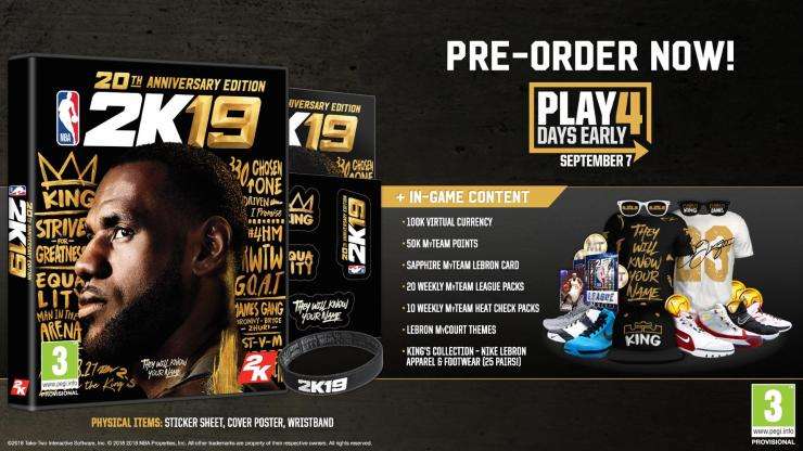 Pre-Order NBA 2K19 for These Bonuses