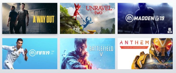 The major titles that are part of Origin Access Premier.