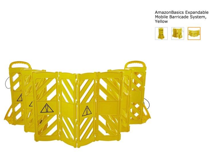Amazon Basics Expandable Mobile Barricade System