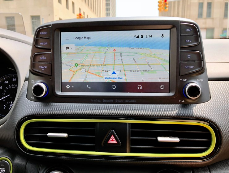 The infotainment system is easy to use, plus it supports Apple CarPlay & Android Auto.