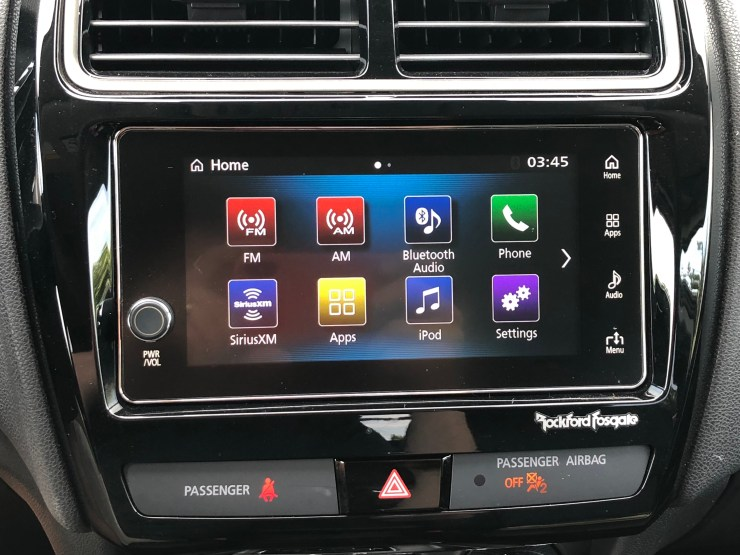 On the higher trim levels you get Apple CarPlay and Android Auto.