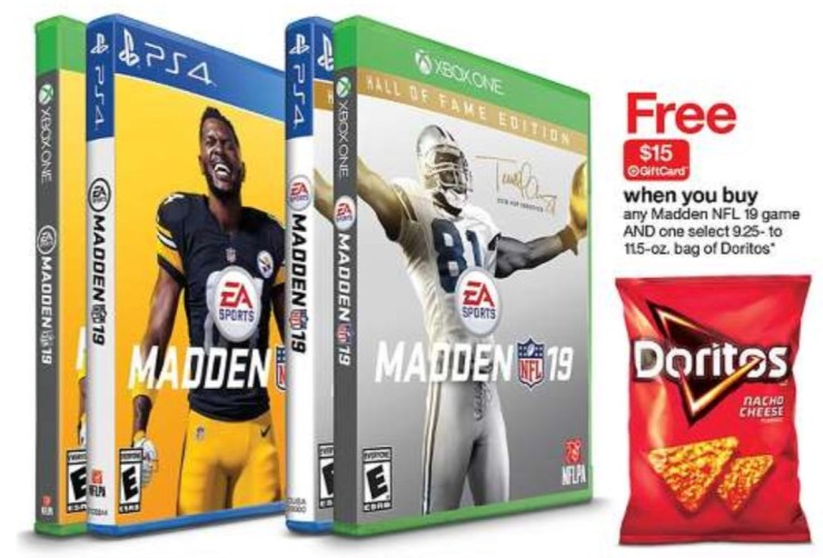 Score a $15 gift card when you buy Madden 19 at Target.