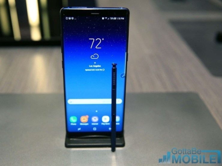 Galaxy Note 9 vs OnePlus 6: Display & Design