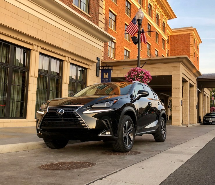 The Lexus NX features a bold design.